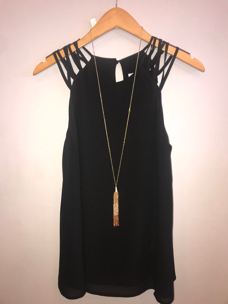 STRUM Multi Strap Chiffon Tank Top
