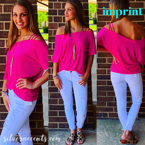 IMPRINT Strappy One Shoulder JerseyKnit Top
