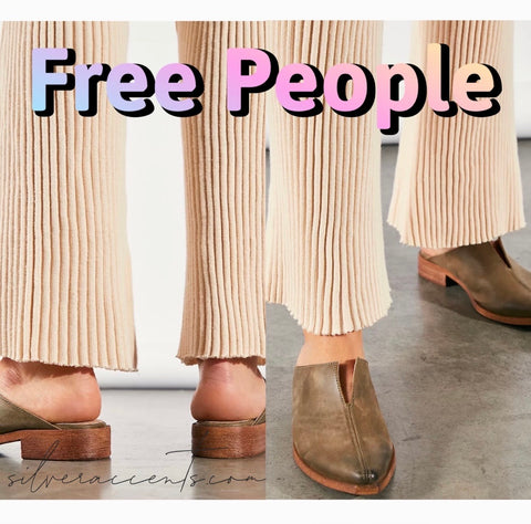 FREE PEOPLE Leather HARLOW SplitSeam Mule Shoe