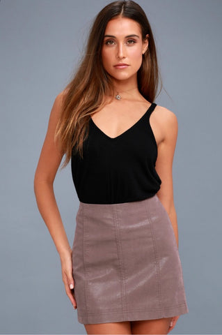 FREE PEOPLE Vegan Suede MODERN FEMME Pencil Skirt