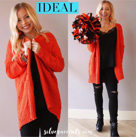 IDEAL Knit OpenFront Pocket Cardigan Top