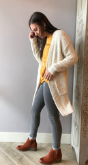 CRYPTIC Cozy Popcorn Knit Cardigan