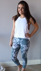 BLOOMING HiWaist Floral Crop Leggings