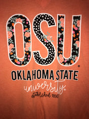 CALAMITY JANE Confetti & Floral V Neck OSU Tee Top