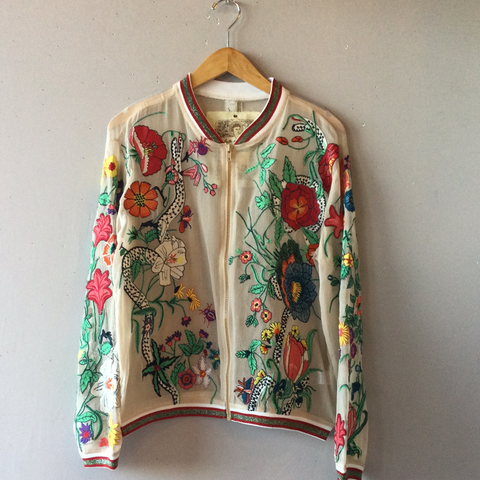 ARATTA Bellezza Embroidered Zip Up Jacket