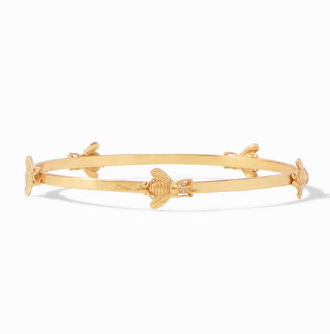 JULIE VOS Gold BEES Bangle Bracelet
