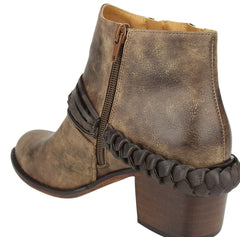 NOT RATED CHRYSE Double Zipper Harness Bootie