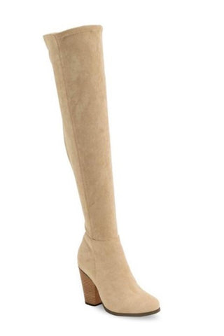 KAT Suede Over Knee Sock Boot