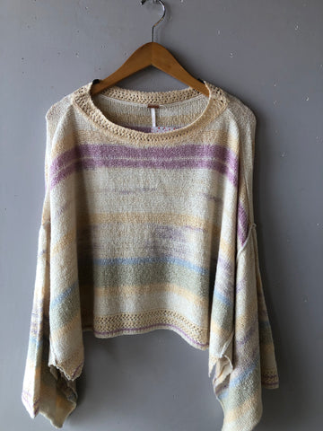 FREE PEOPLE SATURN Poncho Sweater Top