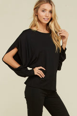 COURTIER Slit Dolman Sleeve Top
