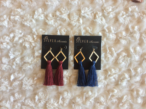 FIELD GOAL Tassel Drop Earrings