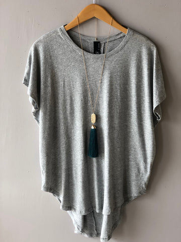 BOBI Lightweight Jersey CULTURE Dolman Sleeve ScoopHem Top