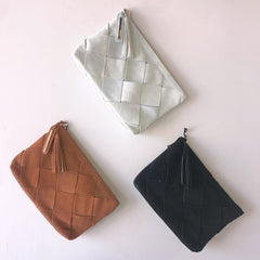 ELEANOR Faux Leather Clutch Purse