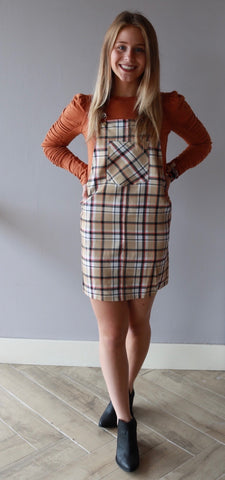 GOSSIP Plaid Jumper