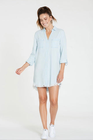 DEAR JOHN FrayHem AVERY Tencel Denim Dress