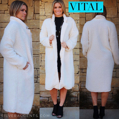 VITAL SuperSoft Sherpa Oversize Long Jacket