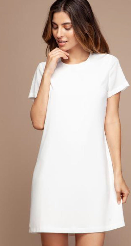 ARIANA Short Sleeve Shift Dress