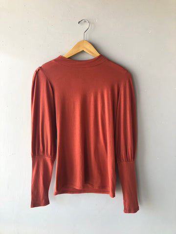 BOBI Mock Neck BISHOP Sleeve TEE