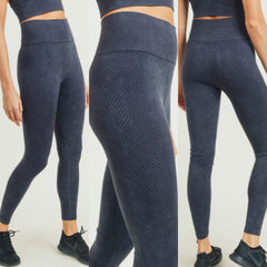 AT THE CORE HiWaist MineralWash Chevron Side Legging
