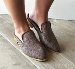 VERY VOLATILE Bronze CARTAR Metallic FlyKnit Mule Shoes
