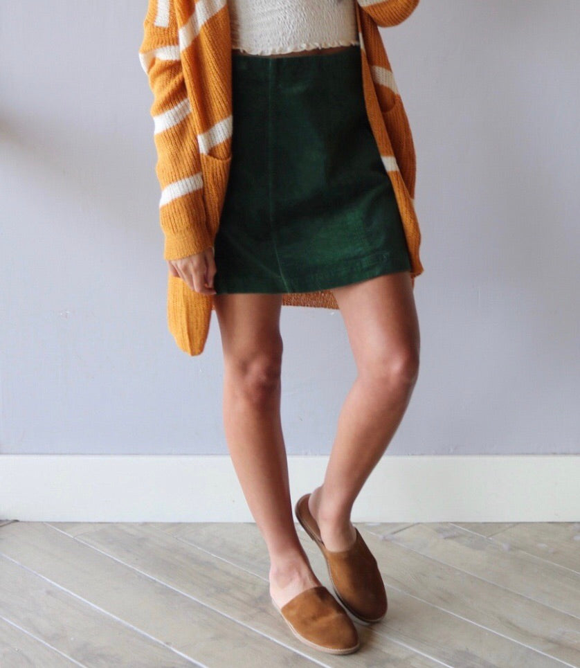 COLLAPSE Corduroy Pencil Skirt