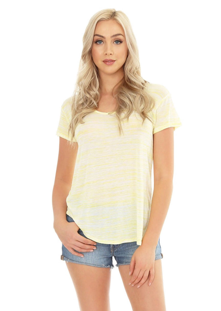 BOBI Space Dye QUEST Striped Top