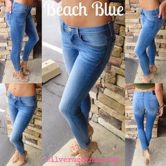 FLYING MONKEY Stretch BEACH BLUE Skinny Jean