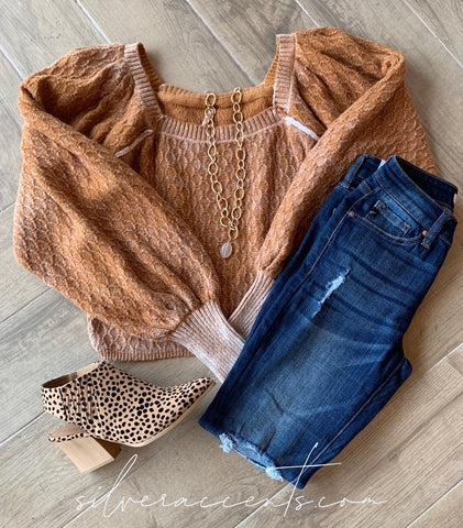 FREE PEOPLE Pullover Puffsleeve OLIVIA Sweater Top