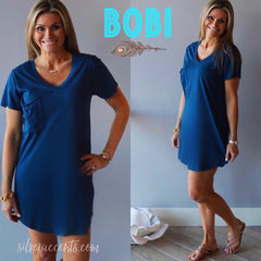 BOBI Supreme Jersey INTENSE ScoopHem Pocket Dress