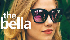 DIFF EYEWEAR Matte Black/Pink Flash Mirror BELLA Polarized Sunglasses