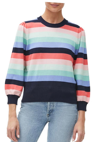 MICHAEL STARS CrewNeck DOLLY Striped Sweater