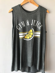 GYM & JUICE Graphic Print Tank Top