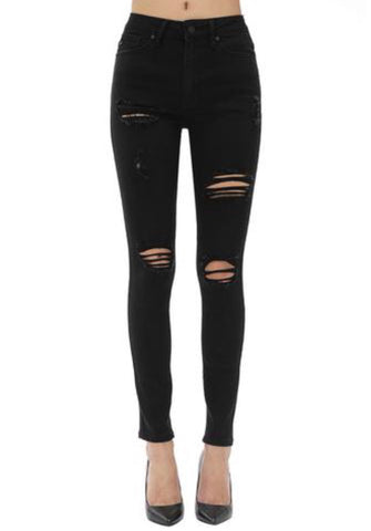 KC ALLIED Hi Rise Distressed Jeans
