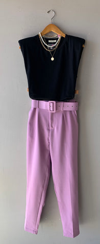 ARTICLES Hi~Waist Belted Pants