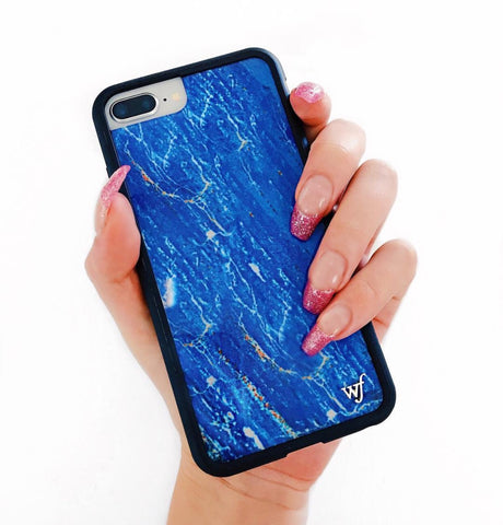 WILDFLOWER Blue Marble I-Phone Case