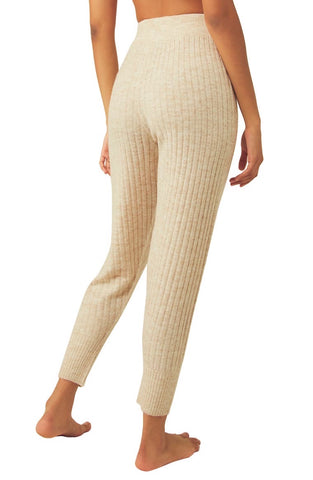 FREE PEOPLE RibKnit AROUND THE CLOCK Jogger Pant