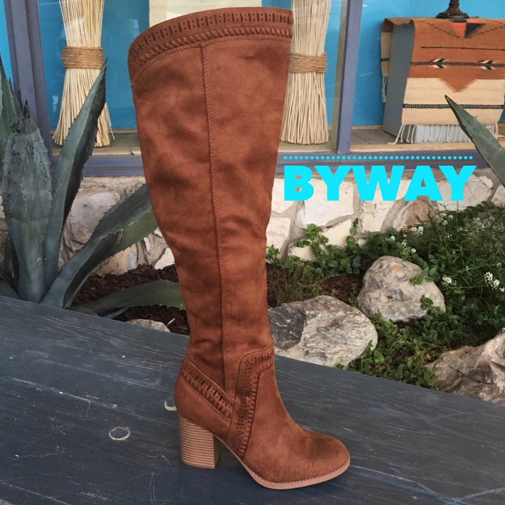 BYWAY WhipStitch Trim Over the Knee Boot