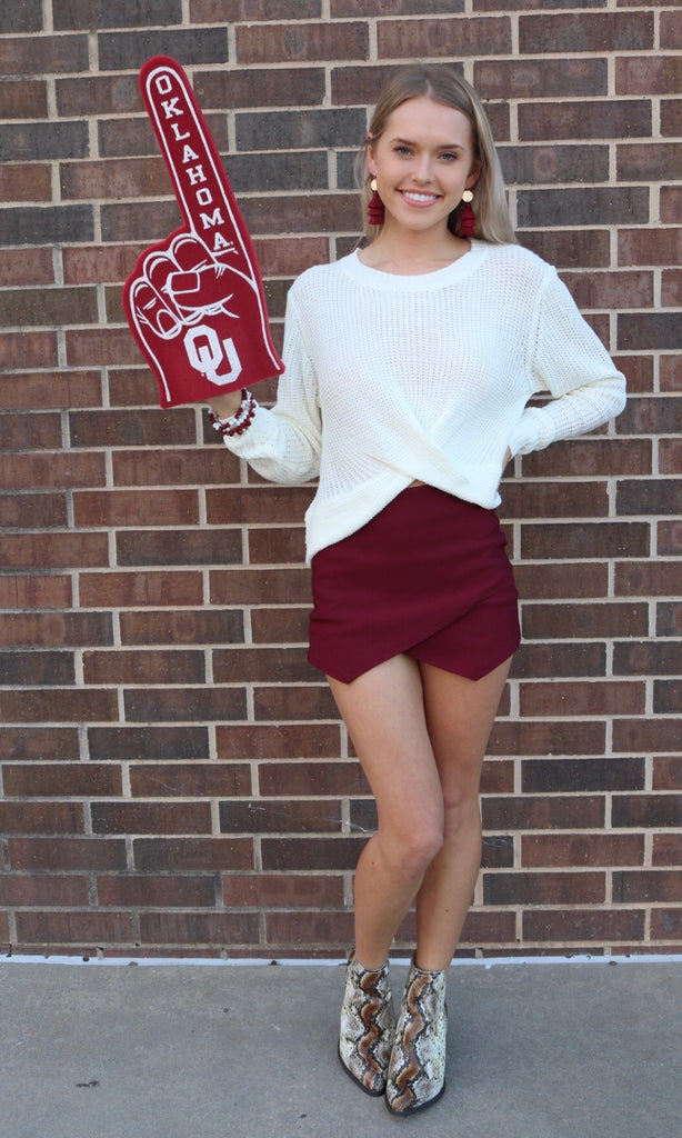 GRACED Woven Envelope Skort Shorts Skort