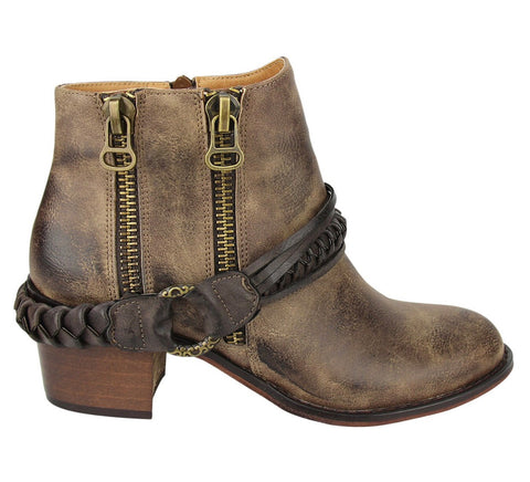 NR CHRYSE Double Zipper Harness Bootie