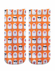 LIVING ROYAL GHOST EMOJI Ankle Socks