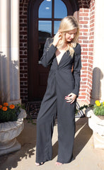 Honey Belle FORTUNE V-Neck LongSleeve Jumpsuit Pant Romper