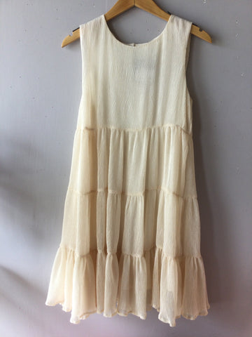 Textured RETREAT Tiered Babydoll Dress