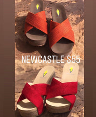 VERY VOLATILE Woven NEWCASTLE CrossOver Wedge Sandal Shoe