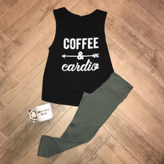 COFFEE & CARDIO Graphic Tank Top