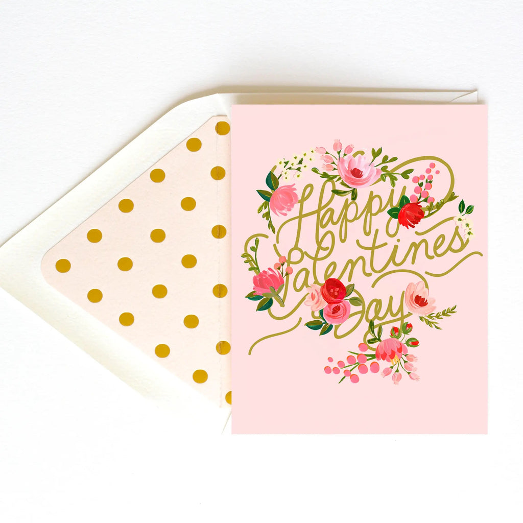 THE FIRST SNOW Valentine's Day Designer Greeting Card