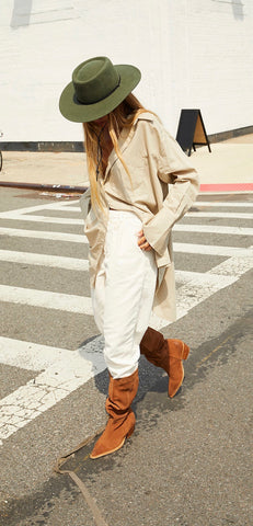 FREE PEOPLE SuedeLeather SWAY Slouchy Boot
