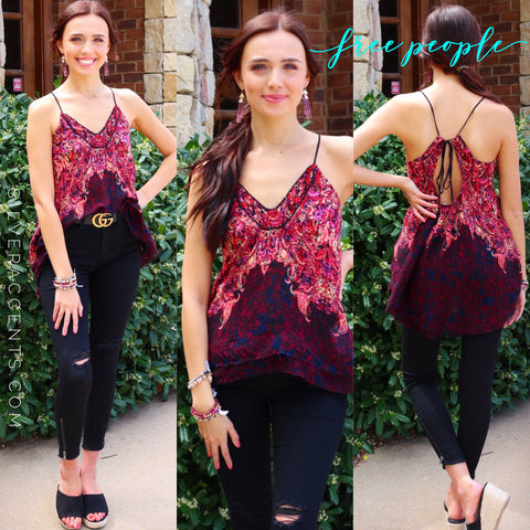 FREE PEOPLE Printed WAY YOU WALK Cami Top