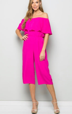 GAZED PopOver Strapless Crop Jumpsuit Pant Romper
