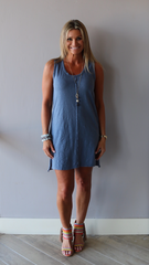 BOBI Slub Jersey QUEST RawSeam Tank Dress