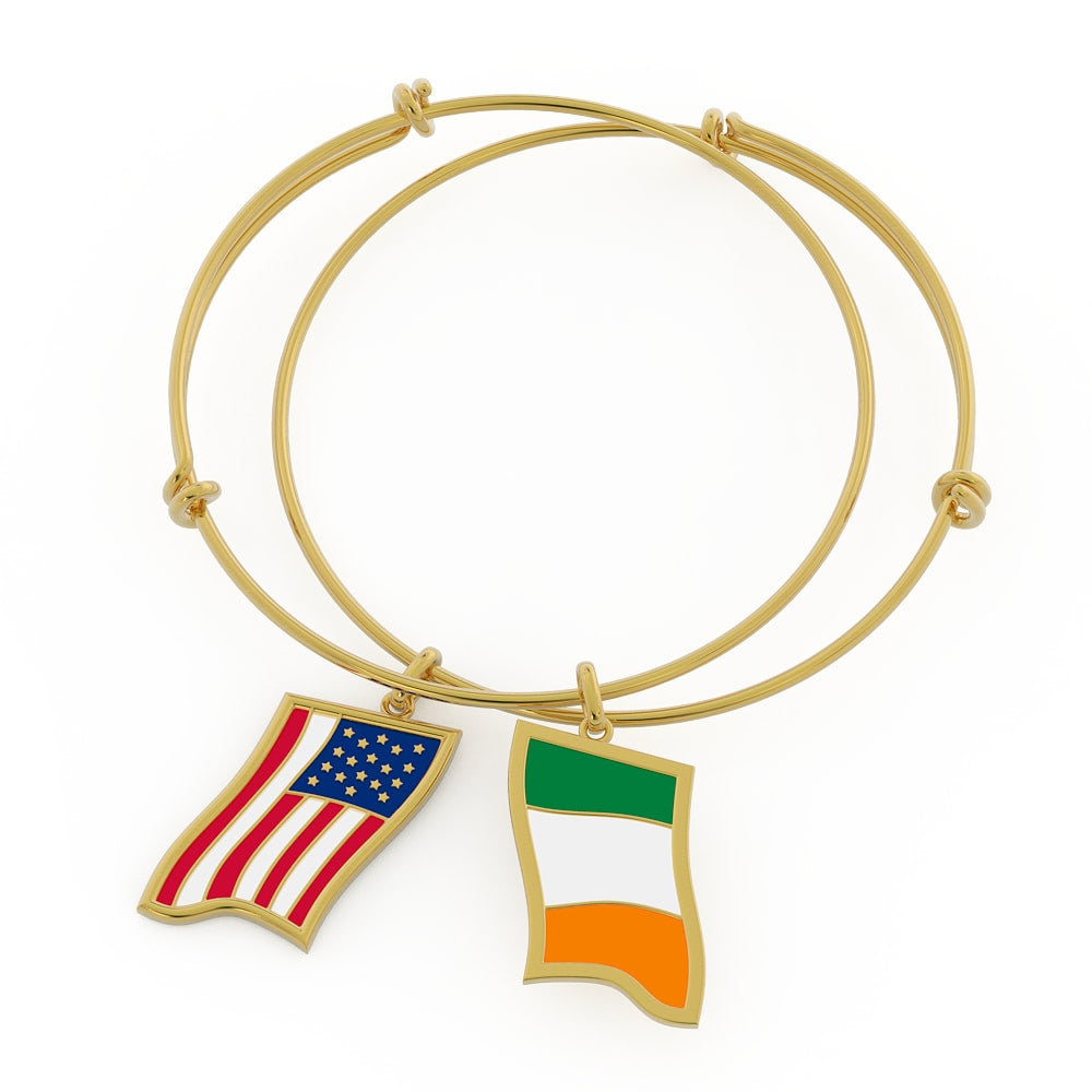 Irish/American Flags